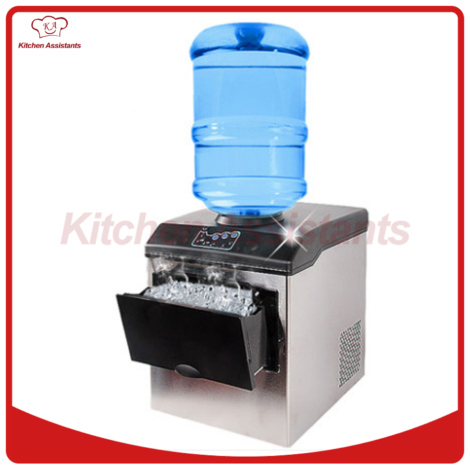 HZB25 electric commercial or homeuse portable counter top Automatic bullet ice maker making machine edtid portable automatic ice maker household bullet round ice make machine for family small bar coffee shop 220 240v 120w eu us