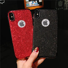 Glitter TPU Leuke Telefoon Case Voor iphone 7 6 6s 8 Plus X Huawei Honor 10 9 9i 8 7X 7C Y6 Y7 prime 2018 Siliconen Bling Soft Cover(China)