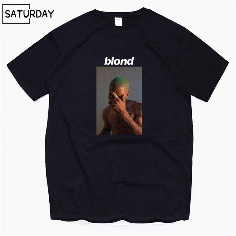 Men's Frank Ocean Blond Blonde Hip Hop Rap   T     Shirt     T  -  Shirt   Unisex 100% Cotton Tshirt Homme Singer Harajuku   Shirt  ,