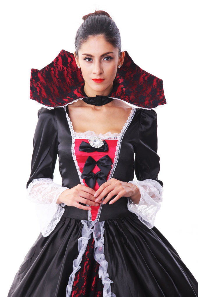 Big Petticoat Luxury Vintage Masquerade Party Queen Cosplay Uniform Halloween  Costume Lady Vampire Zombie Fancy Dress Black Red  In Anime Costumes From  ...