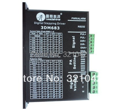 Leadshine 3 Phase Stepper Driver 3DM683 work parameter 60 VDC 0.5A to 8.3A leadshine stepper motor driver 3dm 683 3 phase digital stepper drive max 60vac 8 3a