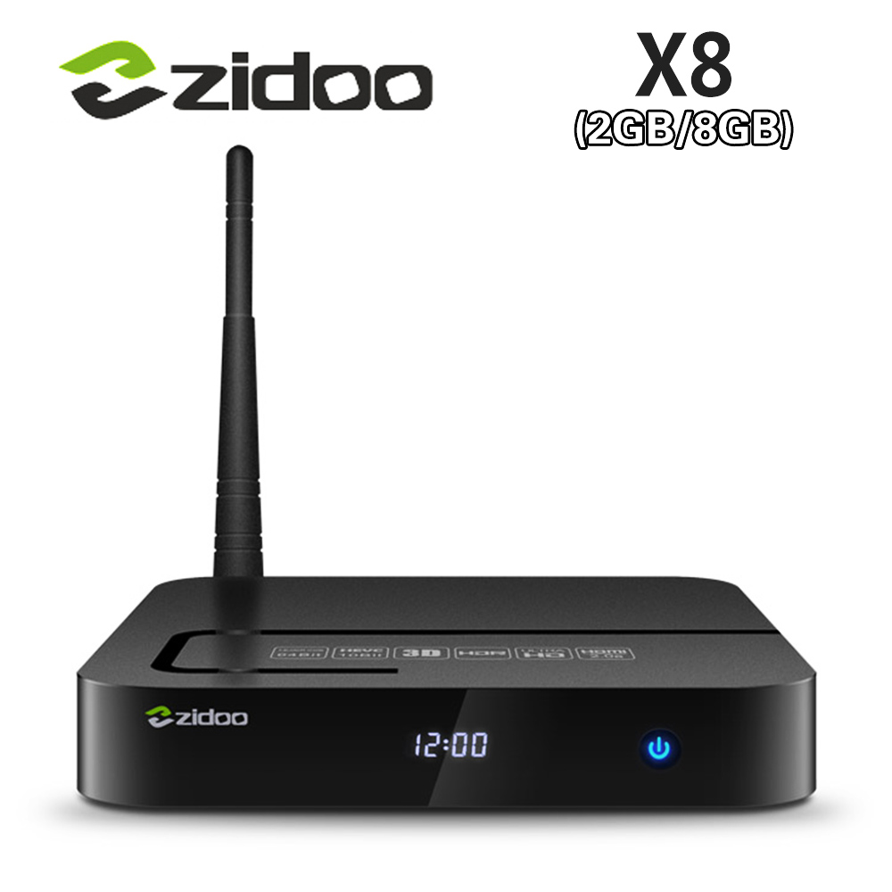 5pcs [Genuine] ZIDOO X8 Realtek RTD1295 Android 6.0 OpenWRT(NAS)TV BOX 2GB/8GB AC WIFI 1000M LAN USB3.0 HDMI2.0 HDR Media player