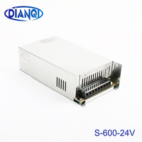 600W 24V adjustable 25A 110V input Single Output Switching power supply for LED Strip light AC to DC ac dc converter S 600 24