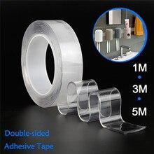 Многофункциональная двухсторонняя лента нано прозрачная акриловая волшебная лента без следа очищаемая многоразовая водонепроницаемая клейкая лента