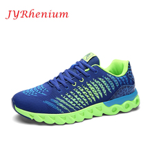 JYRhenium 2018 New Trend Running Shoes Mens Sneakers Breathable Air Mesh Shoes Eva Athletic Sapatos Women Sport  Runing Shoes