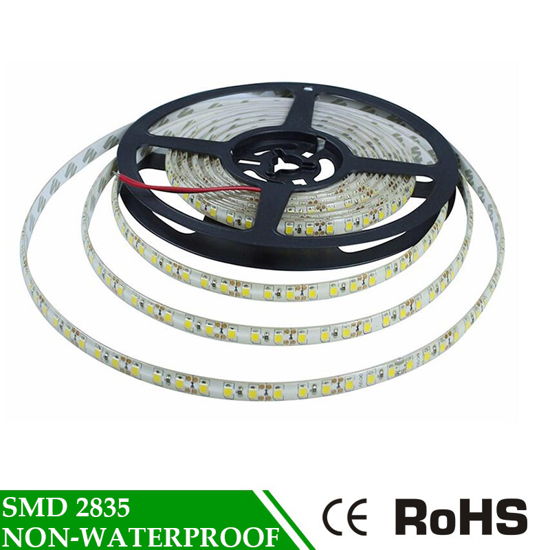 SMD 2835 Flexible <font><b>Led</b></font> <font><b>Tape</b></font> <font><b>RGB</b></font> TV Background Lighting <font><b>LED</b></font> Strip Lamp Cold Warm White Red Not Waterproof 5M DC12V luz tiras