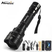 AloneFire X510 XM L2 led flashlight Aluminum waterproof Zoomable Tactical flash light torch Convex Lens Zoom Lens Light