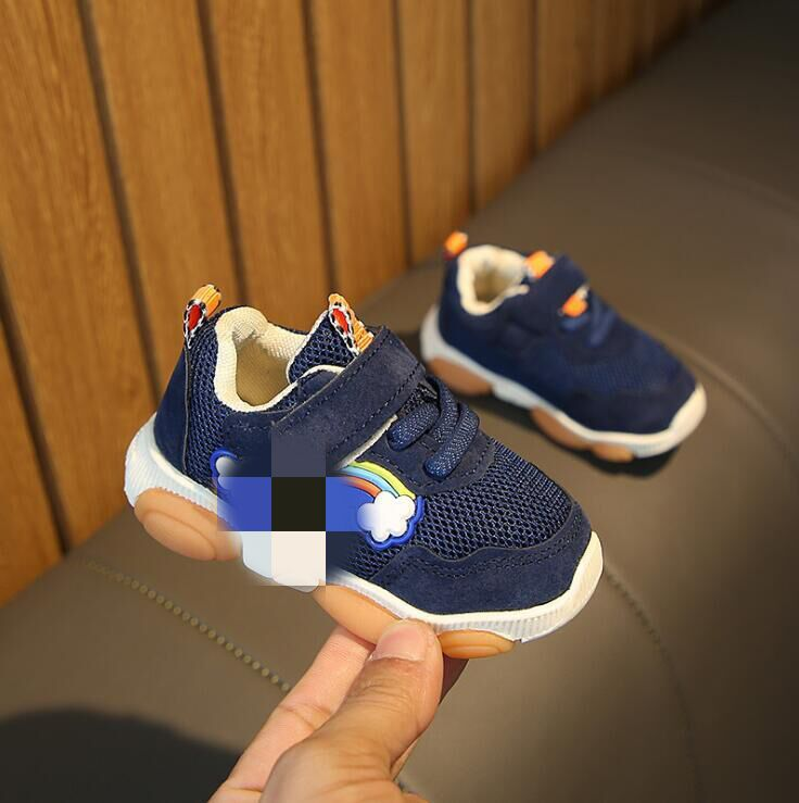 Spring Autumn Baby Girls Boys Casual Sport Shoes Pachwork Mesh Toddler Shoes 3color 15-19 T-2 TX09