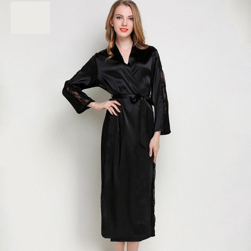 Image 3 - Bathrobe Kimono Sexy Bride Kimono Sleepwear for summer and spring 9676-in Robes from Underwear & Sleepwears