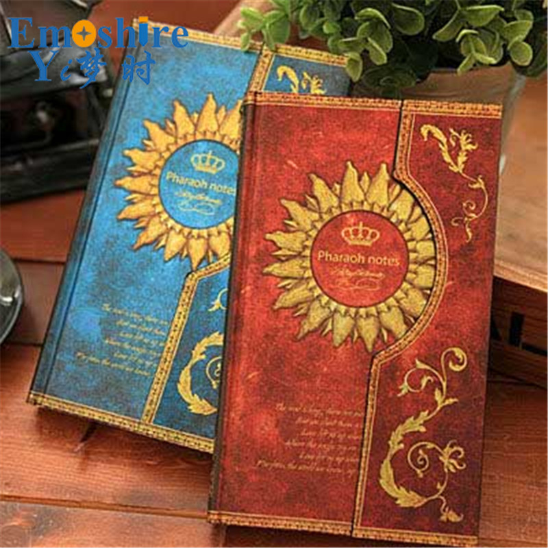Magnetic Buckle Retro European Diary Book Hard Surface Notebook Notepad Leather Notebook Note Book Memo Pad Plan Schedule N188 emoshire 4 set of notebooks stationery creative gift bag chinese style retro memo pad diary note book notepad n059