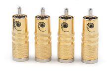 Fiche RCA plaquée argent haut de gamme 4 pièces câble dinterconnexion mâle SRCA RCA prise électrique 10mm pour câble Hifi audio RCA