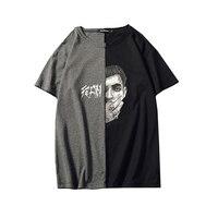 Patchwork t Shirt Men Punk Rock Music Rap Print Funny Erkek Tshirt Tumblr Urban Hip Hop Harajuku Mens Tshirts Summer Top t6035