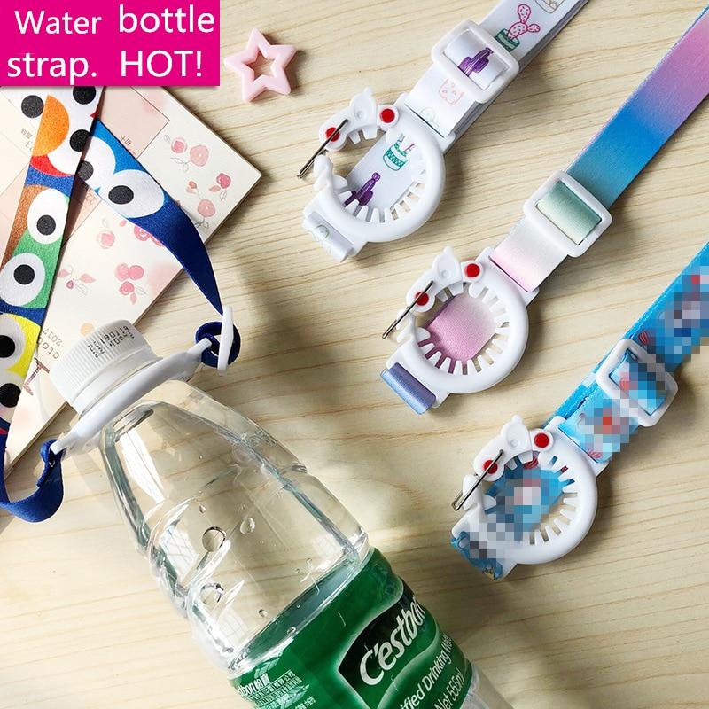 Fashion Water Bottle Strap Plastic Beverage Bottle Buckle Clips Baby Kids Shoulder Belt Lanyard Women Girls Back Bag Rope Straps in Water Bottle Cup Accessories from Home Garden