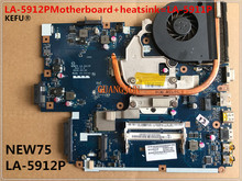 KEFU LA-5912PMotherboard+heatsink=LA-5911P Laptop Motherboard For ACER 5551G 5552 5552G NEW75 LA-5912P Tested perfect working(China)
