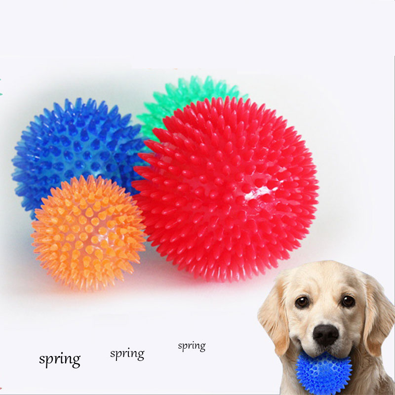 Pet Bite Vocal Hedgehog Toy Spiked Ball Bite resistant Bouncy Ball Dog Molars Chewing Screaming Anti biting Rubber Ball Toy in Dog Toys from Home Garden