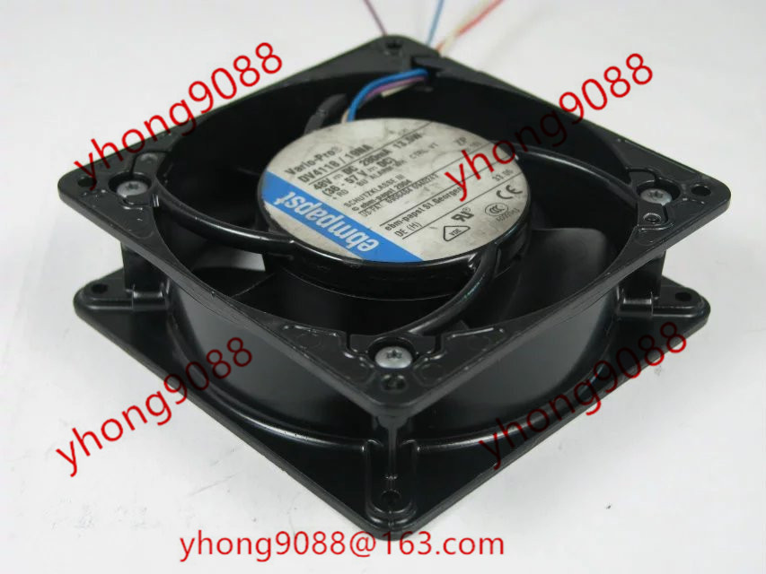 Free Shipping For ebmpapst DV4118/19NA DC 48V 16W  4-wire 110 120X120X38mm Server Square Cooling Fan free shipping for ebmpapst dv5214n dv5214 n dc 24v 18 5w 2 wire 2 pin connector 110mm 127x127x38mm server square cooling fan