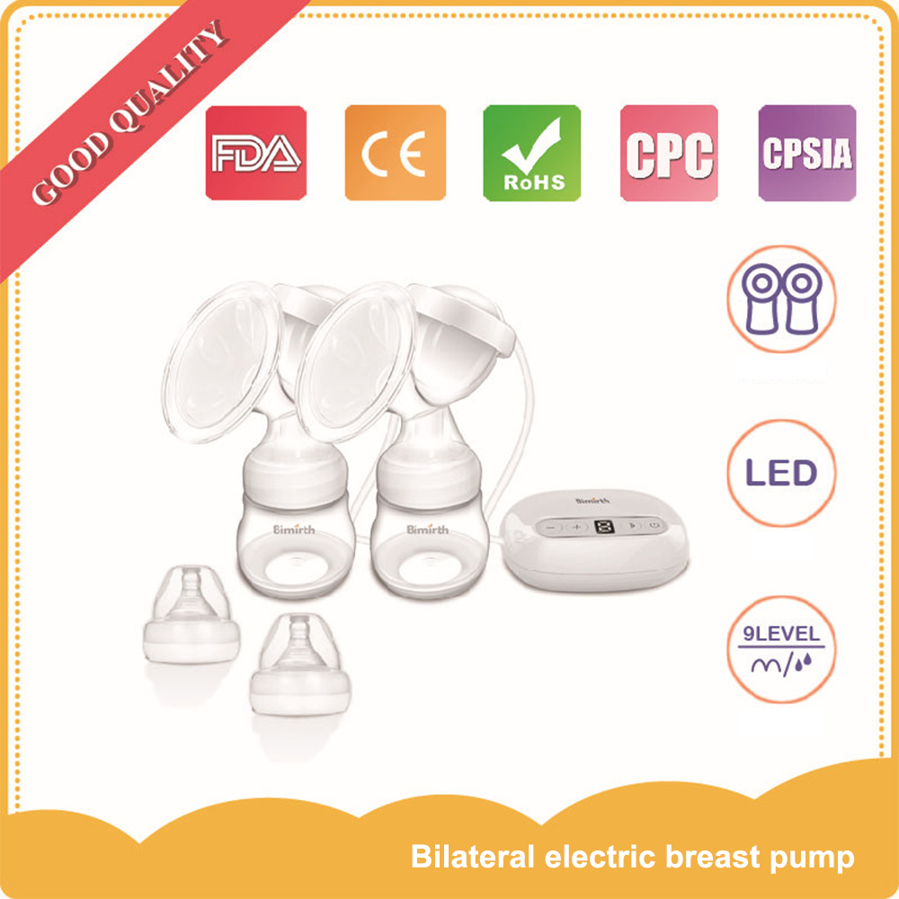 Электрический двусторонних молокоотсос пауза Функция молоко Extractor Express больше молока Электрический насос Увеличение груди