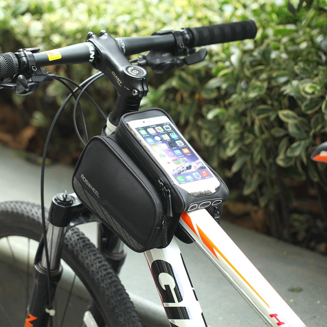 5.5in En Plein Air Sacs De Vélo Vélo Avant du Rack Cadre Supérieur Tubes Pack Téléphone portable Accessoires Vélo dans Sacs de vélos et sacoches de Sports et loisirs