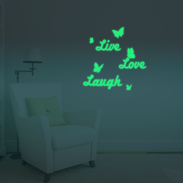 Home Furnishing Decorative Luminous Wall Sticker Light Emitting Live
