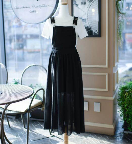 Free Hot Sale O-neck Ankle-length Shipingeurope And The 2019 Summer Girl Sweet New Fashion Strap Dress Women's Chiffon Suit 5