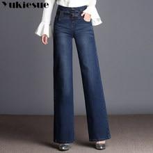 9eabf9d53438 Calça jeans de cintura alta mulher primavera 2018 Do Vintage solta casual denim  calças perna larga calça jeans mulheres Plus .