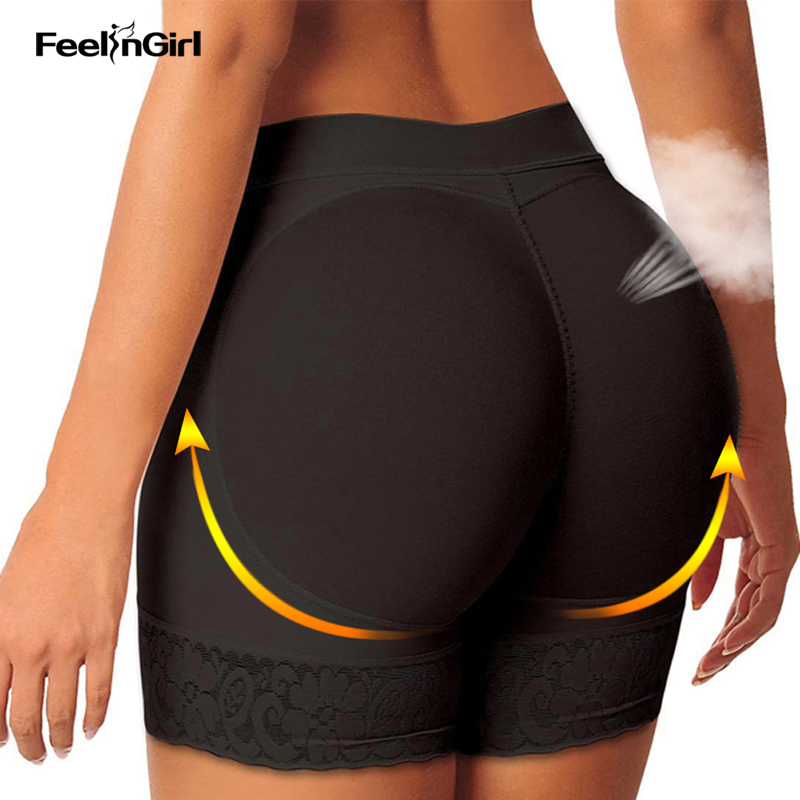 FeelinGirl Femmes Butt Lifter Seamless Enhancer Body Shapers Minceur Sous-Vêtements Shaper Tummy Control Hip Paded Panties Buttock