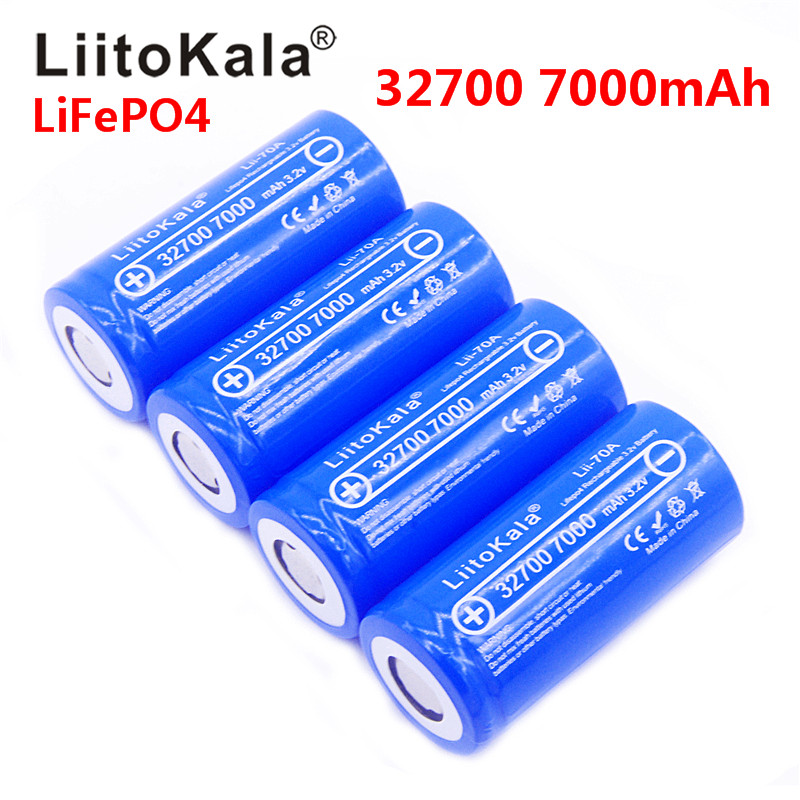 NEW 2019 Lii-70A LiitoKala 3.2 V 32700 6500 mah 7000 mAh battery LiFePO4 35A 55A High Power Maximum Continuous Discharge Battery