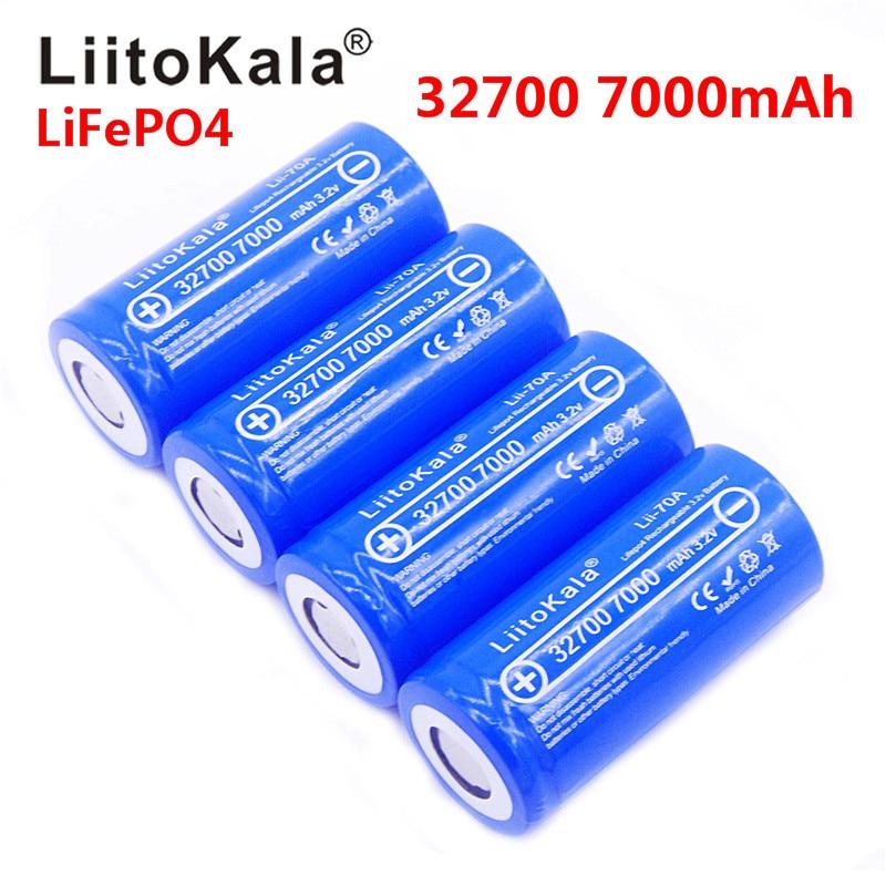 Nouveau 2019 Lii-70A LiitoKala 3.2 V 32700 6500 mah 7000 mAh batterie LiFePO4 35A 55A haute puissance batterie de décharge continue maximale