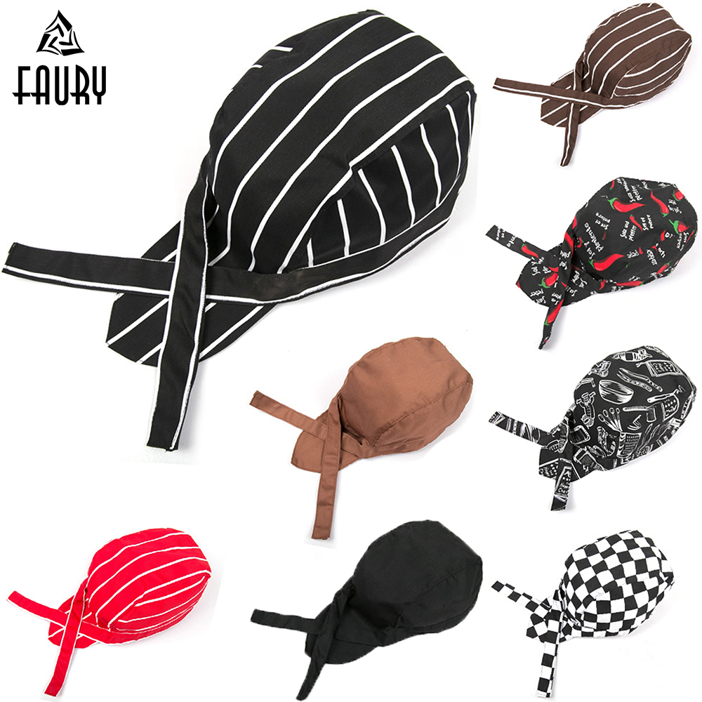 Wholesale 2018 New Pirate Hat For Top Chef Waiter Hats Hotel Restaurant Canteen Bakery Kitchen Work Wear Master Cook Forward Cap