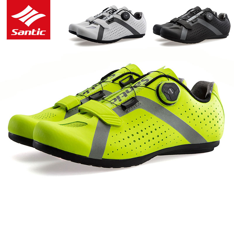 Santic MTB Road Bike Shoes Pro Team Cycling Shoes Rubber Anti slip Breathable Unlocked Sport Bicycle
