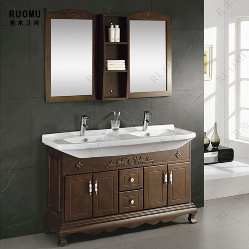 OAK Wood bathroom cabinet bathroom vanity bathroom furniture