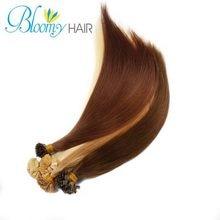2015 100Pcs/set  Nail Hair Extension High Quality Raw Brazilian Straight  Hair 16-20 inches Hair Extension U Tip Beautiful Hair