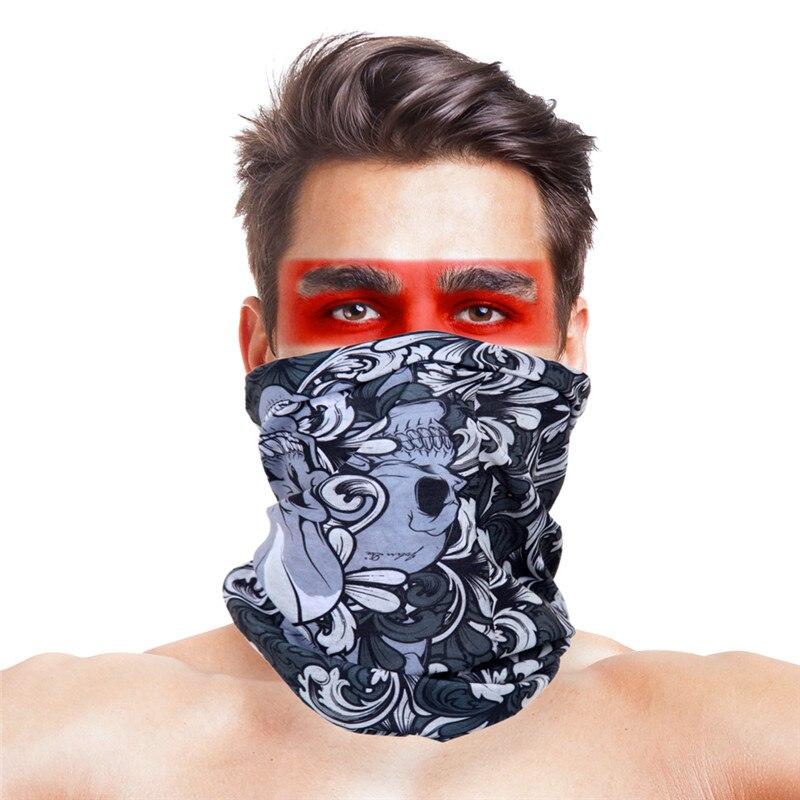 Военные страйкбол маски для вечеринки Полиэстеровые повязки на голову шарф Вечерние Маски унисекс головной убор Хэллоуин пугающая маска - Цвет: 052