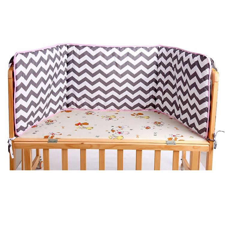 2017 New Cotton Comfortable Baby Bedding Unisex Wave Pattern Newborn Bed Around Bumper
