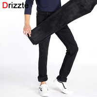Drizzte Winter Mens Stretch Jeans Warm Fleece Flannel Lined Quality Denim Jean Pants Size 28 35