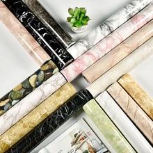 1 M/2 M muebles modernos para sala de estar escritorio impermeable papel tapiz de mármol vinilo autoadhesivo papel de Contacto Color sólido decoración del hogar