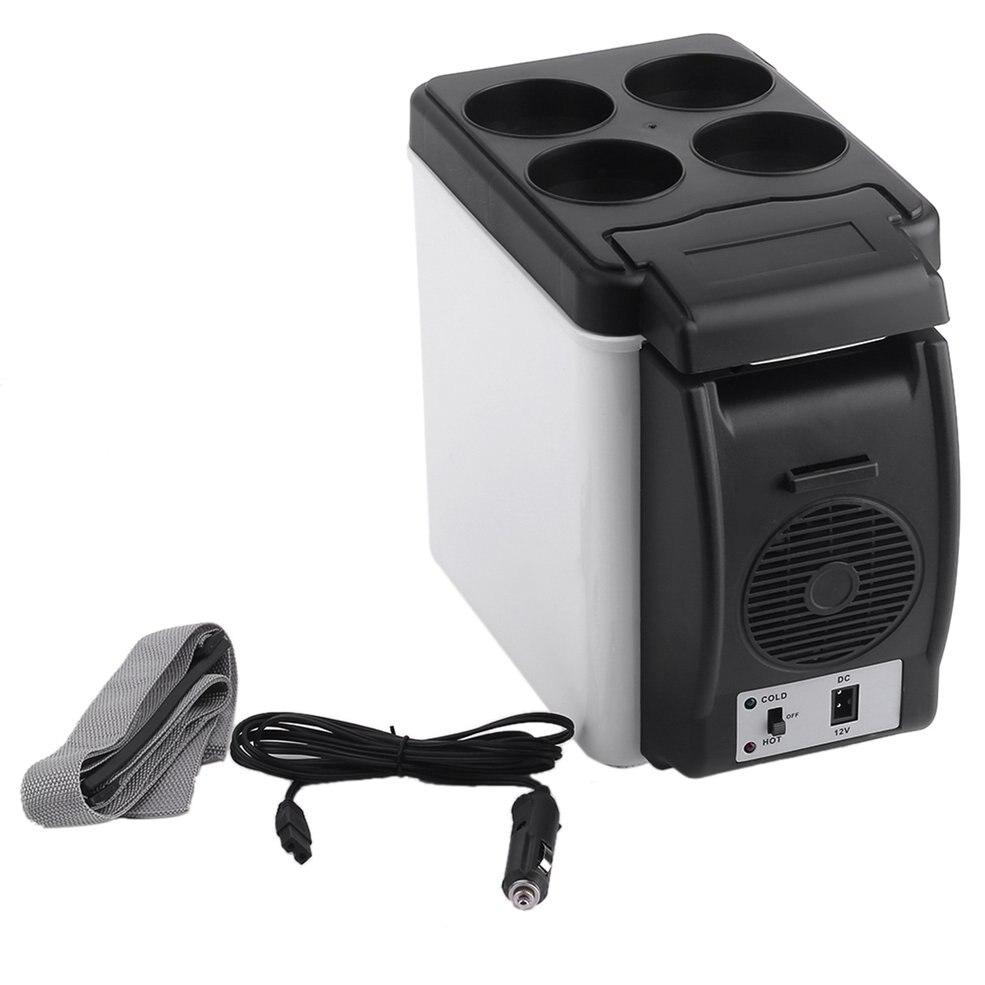 Camping casa mini tamaño 12 V coche pequeño refrigerador mini nevera refrigerador y calentador capacidad suficiente 6L blanco sin necesidad para refrigerantes