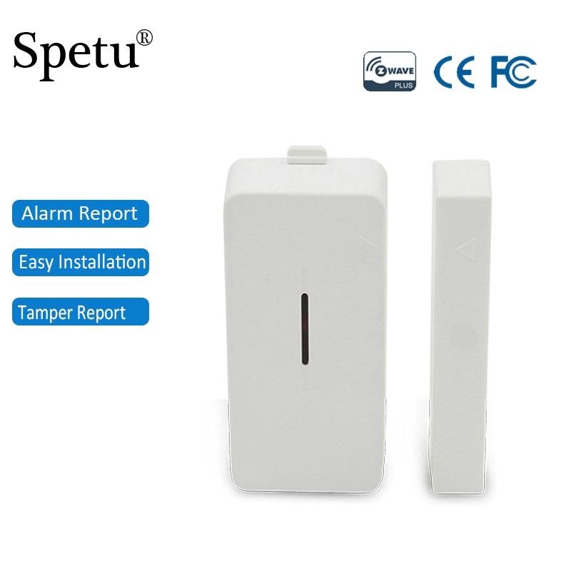 Spetu Z-Wave Plus Door Sensor Alarm Detector Magnetic Switch ZWave Smart Home Automation Wireless Window Door Open Sensor