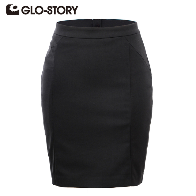 Glo Story Women Skirts Casual Short Designer 2018 New Arrivals Summer Skirt Blackdark Blueed Office