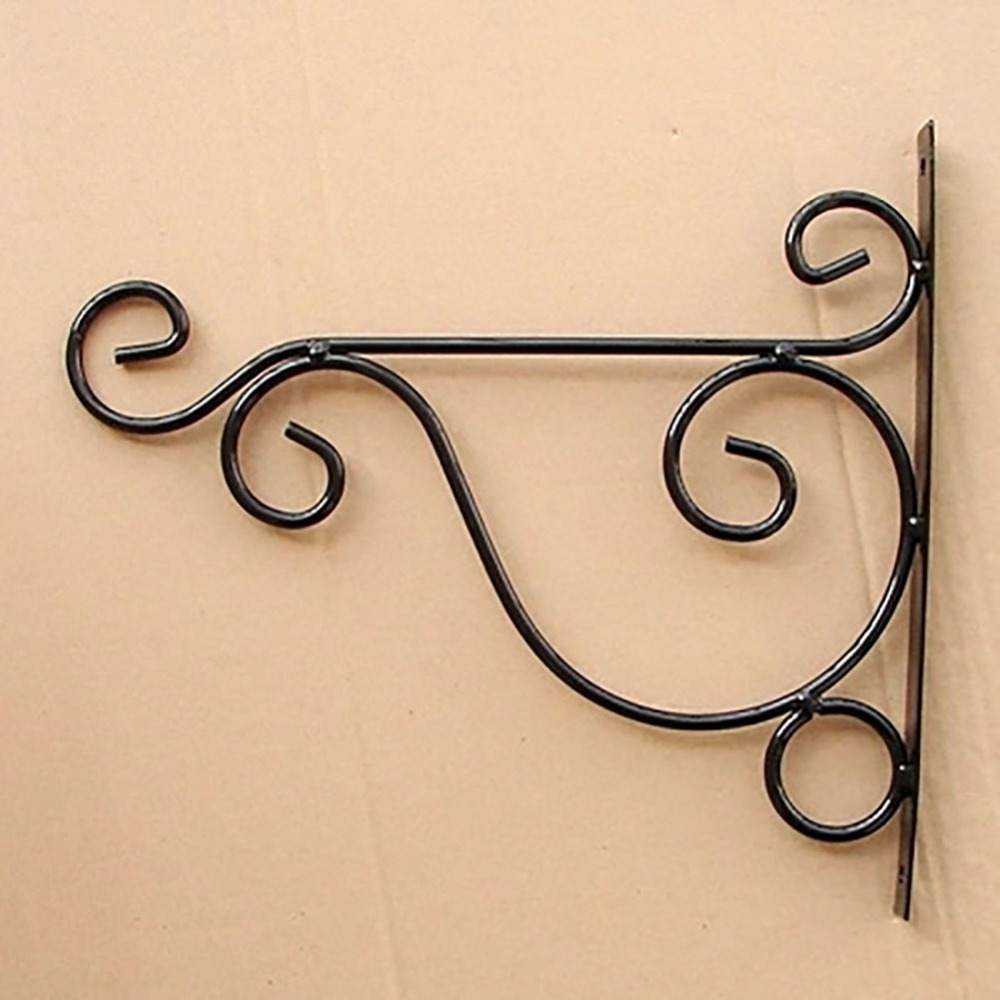 12.2 Inch Black/White Decorative Flower Plant Wall Bracket Tools ...