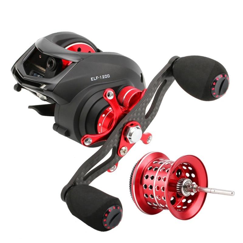 ФОТО 1200 design shallow Spare spool 14 BB fishing reel carbon fiber frame handle reduce weight 169g Water Drop wheel Ocean fishing