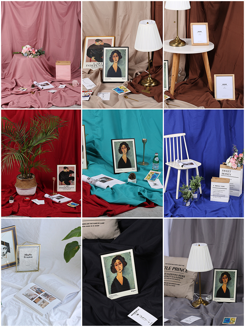4x2.4m Morandi Color INS Photography Backdrops Photo Studio Background Cloth Portrait Shooting Internet Live Broadcast