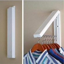 1 pcs StainlessFolding Wall Hanger Mount Retractable Indoor Waterproof Clothes Rack Towel Clothers Organization Cabide