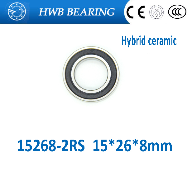 Free Shipping 15268-2rs hybrid si3n4 ceramic wheel hub bearing For Halo 6-Drive MR15268 15268 15*26*8mm for bicycle part 15267 2rs 15 26 7mm 15267rs si3n4 hybrid ceramic wheel hub bearing