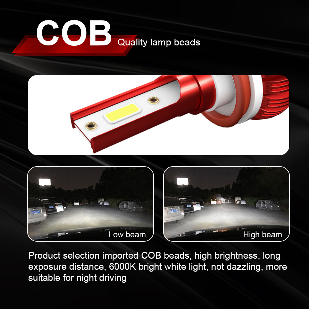 Image 2 - CROSSFOX Car Light LED H4 H1 H8 H9 H11 Auto Lamps 9005 HB3 9006 HB4 H7 LED 12V 6000K White 8000LM Headlight Bulbs bulbs-in Car Headlight Bulbs(LED) from Automobiles & Motorcycles