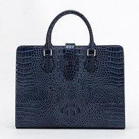 Новый с узором «крокодиловая кожа» Натуральная мужская сумка сечение сумка портфель бизнес первый слой кожи сумка мессенджер Бесплатная д