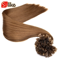 22Inch 100% Machine Made Remy Synthetic Hair Extensions Capsule Keratin Nail U Tip Hair Fusion 100g 100S 100 roots/pack