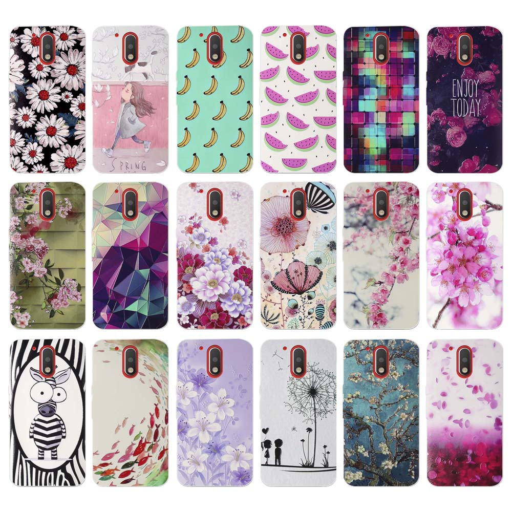 for Motorola Moto G4/G4 Plus Cases Colorful Vintage Flower Pattern Luxury Phone Case Back Cover for Motorola G 4 Plus G4 Fundas image