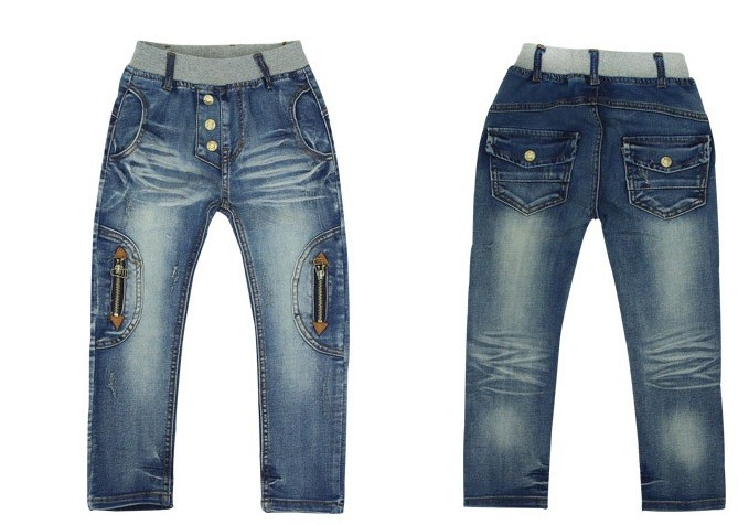 Kids-clothing-2016-Spring-and-Autumn-new-boys-wild-jeans-children-pants (3)