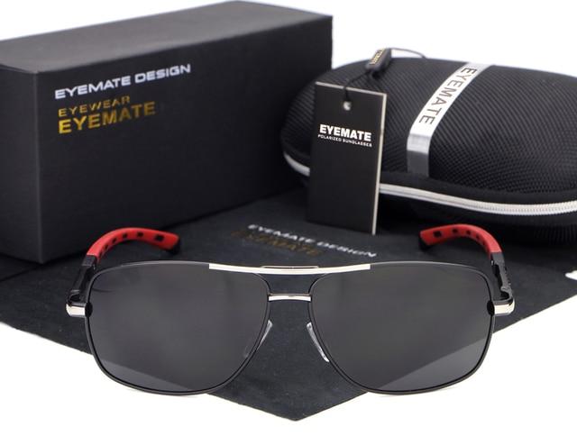 69df35100ae HDCRAFTER Sunglasses Men Polarized Metal Rectangle Sun Glasses for Men  Black Color Brand Designer Gafas Oculos